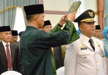 Plt Bupati Bintan, Doli Boniara saat dilantik