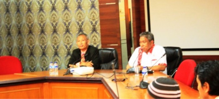 Kepala Dinas PMP KUKM Kota Batam, Febrialin saat membuka pelatihan.