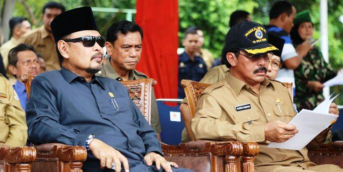 Gubernur Kepri Nurdin Basirun sebelum memimipin Apel Kebangsaan