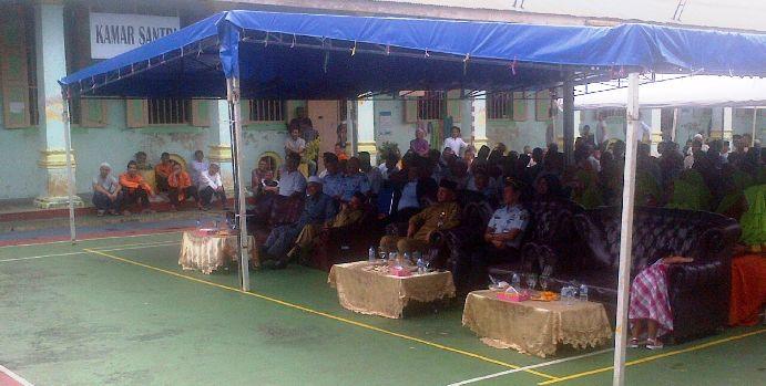 Warga Binaan Rutan Tanjungpinang Saat Memperingati Hari Maulid Nabi. Foto RUDI PRASTIO
