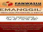 Pengumuman Pembukaan Panwascam Se - Kabupaten Lingga
