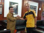 Sekretaris DPD Partai Hanura Provinsi Kepri Hasil Munaslub II Partai Hanura, Sandy Setiawan saat audiensi bersama Sekdaprov