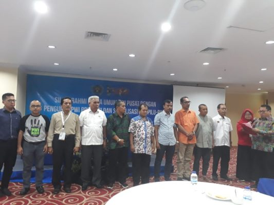 Ketua Mappilu PWI, Firdaus saat melantik Mappilu se-Indonesia, Photo:Istimewa