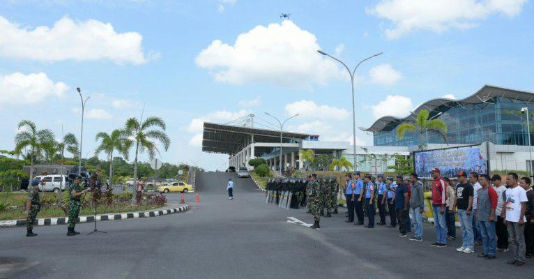 Danlanud RHF Tanjungpinang, Kolonel Pnb Elistar Silaen, S.T Saat Memimpin Pelatihan Pengaman Pemilu