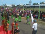 Para Peserta Saat Mengikuti Karnaval di Dabo Singkep