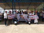 Pengurus relawan KIPPAS Kepri hadir menyaksikan Prabowo Menyapa di lokasi wisata Ocarina, Batam