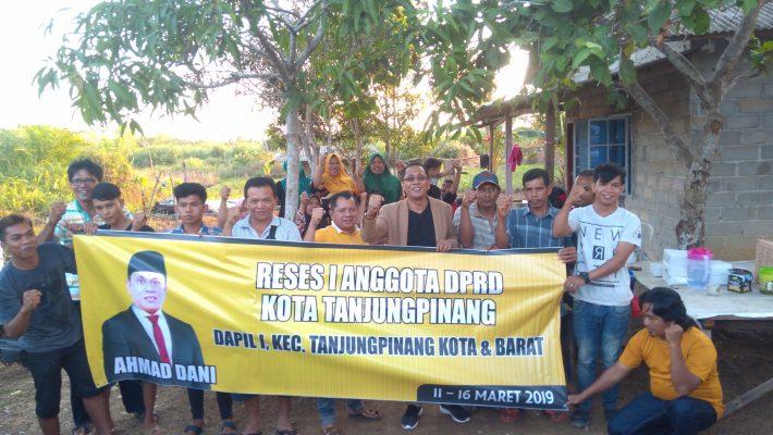 Wakil Ketua II DPRD Kota Tanjungpinang, Ahmad Dani saat reses ke Kampung Sei Timun Kelurahan Kampung Bugis