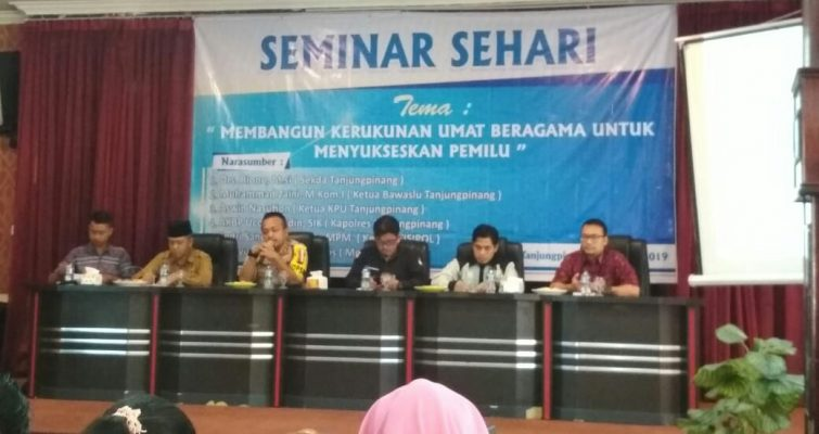 Kapolres Tanjungpinang, AKBP Ucok Lasdin Silalahi Saat Acara Seminar