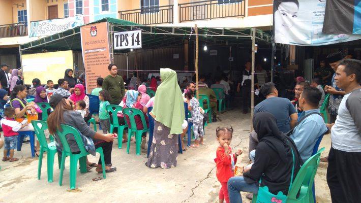 Situasi di lokasi PSU TPS 14 Kelurahan Pinang Kencana saat ini