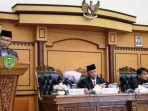 Ketua Pansus Ranperda RPJMD Kota Tanjungpinang Tahun 2018 - 2023, Petrus M Sitohang Saat Paripurna