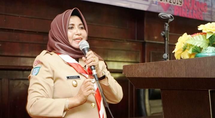 Wakil Walikota Tanjungpinang, Rahma Saat Menyampaikan Kata Sambutannya