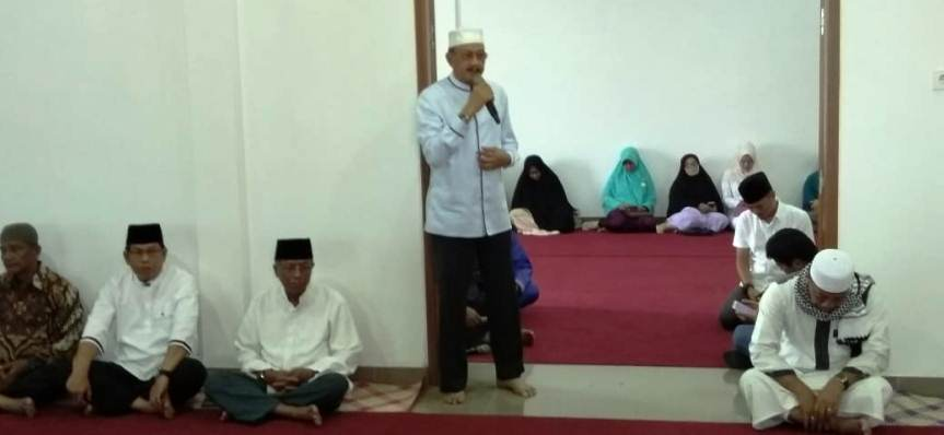 Bupati Natuna, Abdul Hamid Rizal Saat Menyampaikan Kata Sambutan Diacara Halal Bihalal Sambut Ramadan