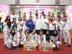 Wali Kota Tanjungpinang, Syahrul S.Pd saat photo bersama atlet dan pelatih Porprov IV Kepri 2018