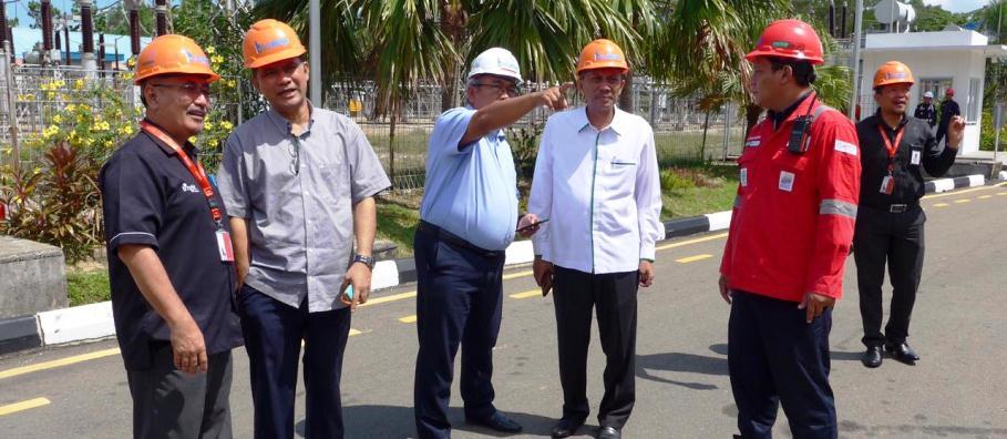 Komisi III DPRD Kepri Saat Meninjau Bright PLN Batam