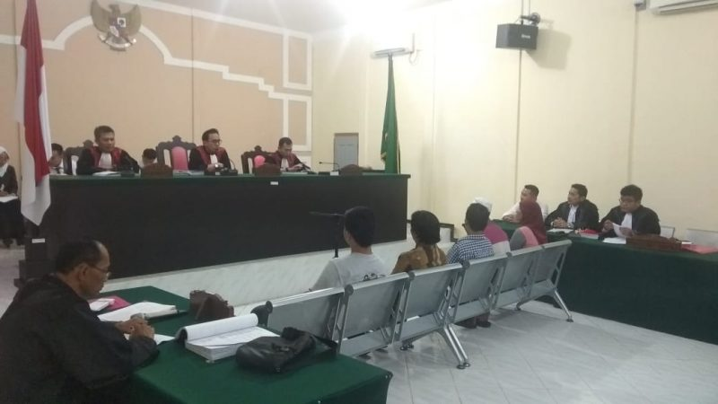 Sidang pemeriksaan 5 saksi kasus dugaan tindak pidana pemilu di Pengadilan Negeri (PN) Tanjungpinang