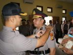 Kapolres Kuansing, AKBP Mustofa Saat Memimpin Serahterima Jabatan Wakapolres Kuansing