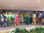 Wali Kota Tanjungpinang, Syahrul S.Pd bersama Bupati KKA Abdul Haris SH beserta Wakil Bupati KKA saat photo bersama usai Halal Bihalal di Hotel Bintan Plaza