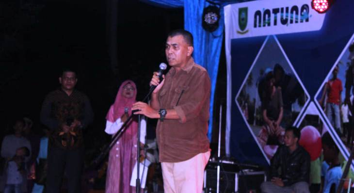 Sekda Natuna, Wan Siswandi Saat Menyampaikan Kata Sambutan