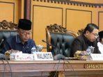 Walikota Tanjungpinang, Syahrul Bersama Wakil Walikota Tanjungpinang, Rahma dan Unsur Pimpinan DPRD Tanjungpinang Saat Paripurna