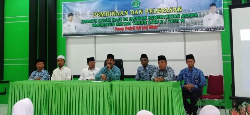 Acara Pembinaan dan Pelepasan Jamaah Calon Haji Bintan