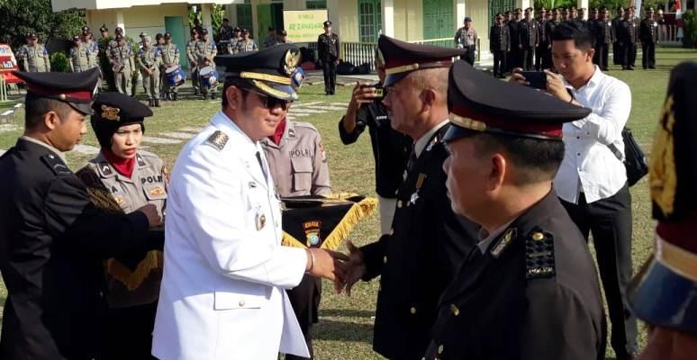 Bupati Bintan, Apri Sujadi Usai Acara Peringatan HUT Bhayangkara ke 73