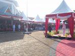 Walikota Tanjungpinang, H Syahrul S.Pd saat menjadi Irup Hari Bhayangkara ke-73 tahun 2019 di Terminal Sei Carang, Tanjungpinang
