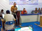 Kepala Dinas Kominfo Kabupaten Bintan, Aupa Samake Saat Menyampaikan Kata Sambutannya