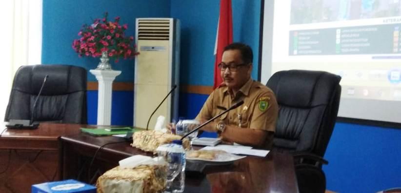 Kepala Dinas Pariwisata dan Kebudayaan Natuna, Hardinansyah Saat Memimpin Rapat