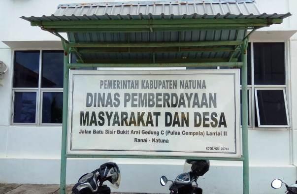 Plang Kantor DPMD Kabupaten Natuna