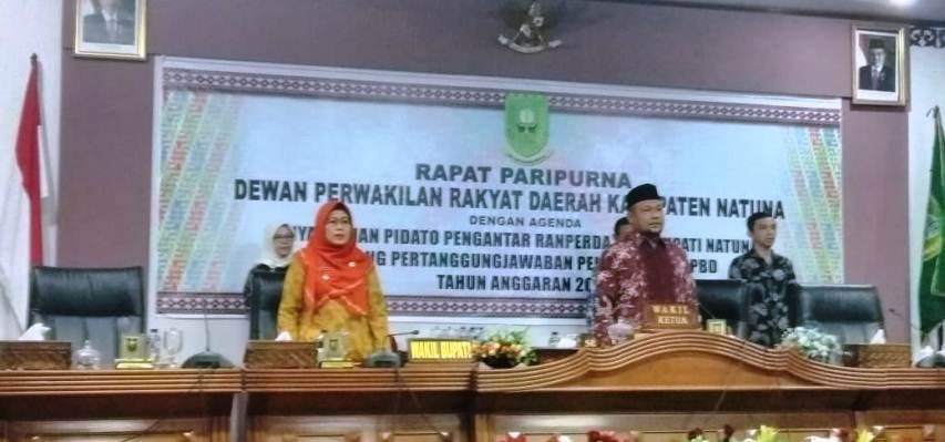 Wakil Bupati Natuna, Hj Ngesti Yuni Suprapti dan Wakil Ketua I DPRD Natuna Hadi Chandra