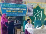 Wakil Bupati Natuna, Ngesti Yuni Suprapti Saat Membuka Kegiatan Manasik Haji 1440 H