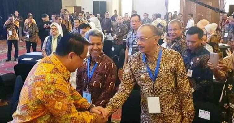 Bupati Natuna, Abdul Hamid Rizal Saat Hadir Diacara Rakor dan Peluncuran Lomba Paket Wisata Tematik Desa Wisata