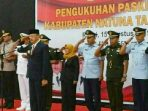Bupati Natuna, Abdul Hamid Rizal Saat Menjadi Inspektur Upacara Pengukuhan Paskibra Kabupaten Natuna Tahun 2019