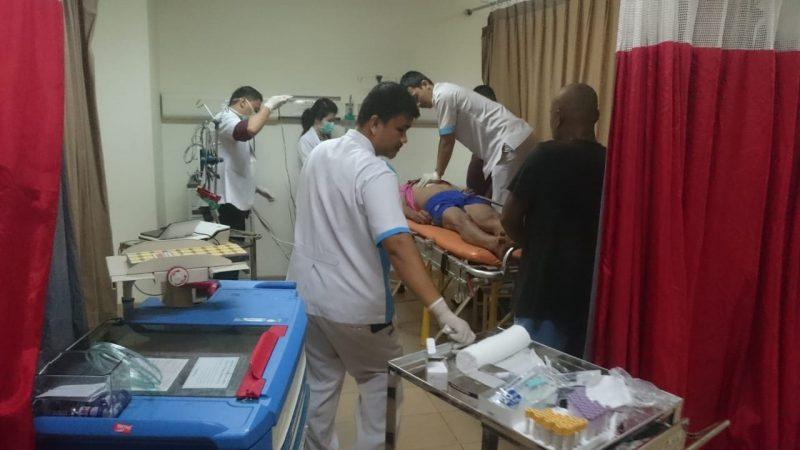 Salah satu korban yang sedang dalam perawatan secara medis