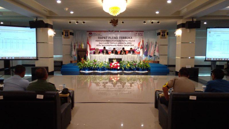 Rapat pleno terbuka penetapan 30 caleg terpilih oleh KPU Kota Tanjungpinang