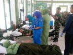 Kegiatan Donor Darah Dalam Rangka HUT Yonkomposit I GP Yang Pertama