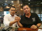 Wakapolda Kepri, Brigjen Pol Drs Yan Fitri Halimansyah salam Komando bersama Ketua PWI Kepri, Candra Ibrahim