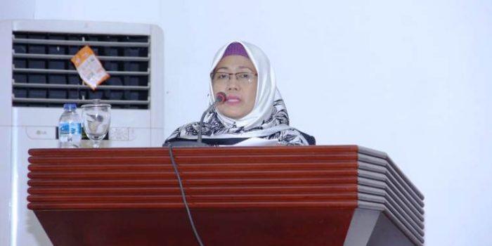 Wakil Bupati Natuna, Ngesti Yuni Suprapti Saat Membacakan RAPBD