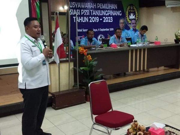 Boby Wira Satria (BWS), Ketua PSSI Tanjungpinang Priode 2019 - 2023 Terpilih