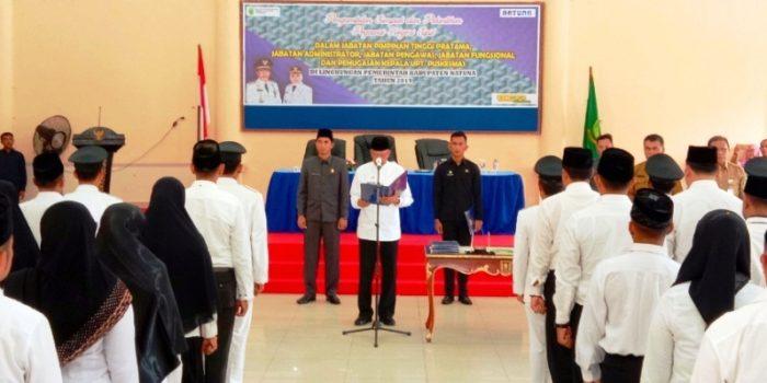 Abdul Hamid Rizal Saat Melantik dan Mengambil Sumpah 62 ASN