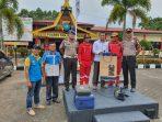 Kasat Intelkam AKP Monang P Silalahi photo bersama perwakilan Dinkes Kota Tanjungpinang, BMKG dan didampingi dua Anggota Polres Tanjungpinang