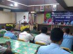 Walikota Tanjungpinang, H Syahrul S.Pd saat berikan kata sambutan sekaligus membuka Muskot PSSI Tanjungpinang