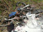 Kondisi Sepeda Motor Supra Usai Kecelakaan