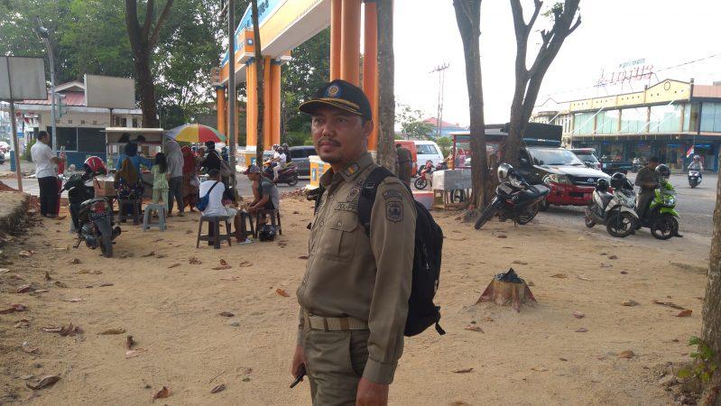 Ketua Tim Penertiban Satpol PP Kota Tanjungpinang Suhardi saat dikonfirmasi awak media ini