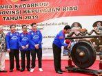 Plt Gubernur Provinsi Kepri, H Isdianto S.Sos.,M.Si membuka secara resmi Lomba Kadarkum tingkat Provinsi Kepri tahun 2019