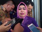 Ketua GOW Kota Tanjungpinang priode 2019-2022 Juwariyah Syahrul saat diwawancara awak media di Gedung PKK Kota Tanjungpinang