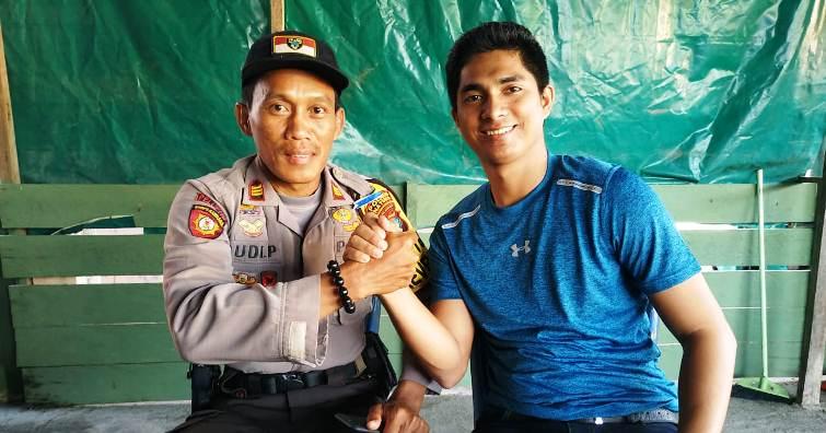 Ketua DPRD Natuna, Andes Putra Salam Komando Dengan AKP Rudi Prasetyo SH,MH
