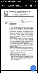 Surat pencabutan izin berlayar oleh Dishub Provinsi Kepri