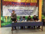 Kapolsek Gunung Kijang AKP Monang P Silalahi saat berikan kata sambuta di kegiatam Basembang Bercerite