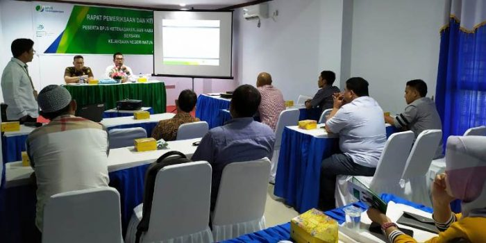 Suasana Acara Evaluasi Kepatuhan Perusahaan yang dilaksanakan BPJS Ketenagakerjaan